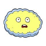 shocked comic cartoon cloud face Stock Images
