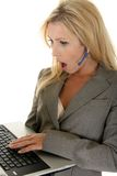 Shocked Customer Service Royalty Free Stock Images