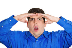 Shocked in the distance Stock Photography