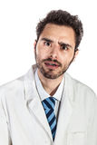 Shocked doctor Stock Images