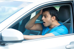 Shocked driver Stock Image