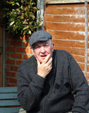 Shocked elderly man. royalty free stock photos