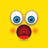 Shocked emoji figure Royalty Free Stock Photos