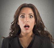Shocked expression Stock Photo