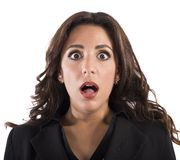 Shocked expression Royalty Free Stock Images