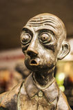 Shocked expression in statue in Melbourne Stock Images