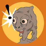 Shocked face of an alien. Royalty Free Stock Photography