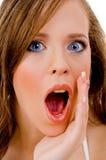 Shocked fashion woman Stock Photos