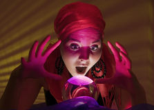 Shocked fortune teller Stock Images