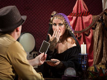 Shocked Fortune Teller Stock Photos