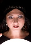 Shocked fortuneteller Royalty Free Stock Photography