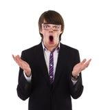 Shocked funny guy Stock Photography