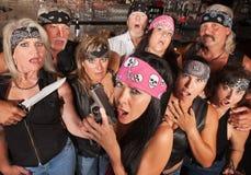 Shocked Gang Members stock photo