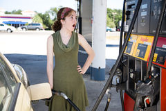 Shocked by Gas Prices Stock Images