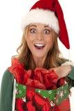 Shocked at gift Royalty Free Stock Image