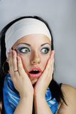 A shocked girl Stock Photography
