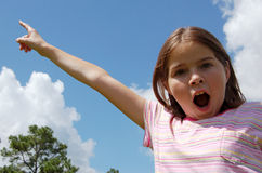 Shocked Girl. A girl shocked by what she sees Royalty Free Stock Images