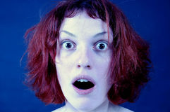 Shocked girl. Stock Images