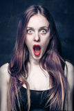Shocked girl Royalty Free Stock Photos