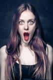 Shocked girl Royalty Free Stock Photos