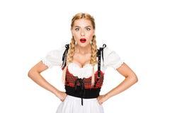 Shocked german girl Stock Photo