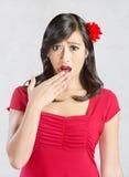 Shocked Hispanic Woman Royalty Free Stock Photos