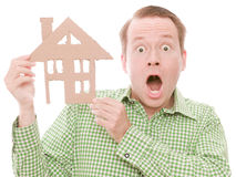 Shocked houseowner Stock Photo