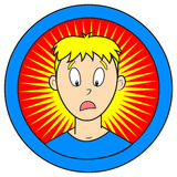 Shocked. Image of shoked teenager in comics style Stock Image