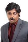 Shocked Indian business man portrait Stock Photography
