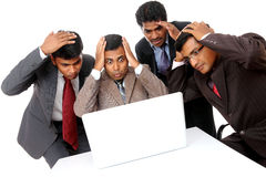 Shocked Indian business team Royalty Free Stock Image