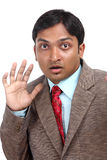 Shocked Indian businessman Royalty Free Stock Image