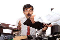 Shocked Indian young businessman Stock Images