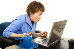 Shocked by Internet Content Stock Photos