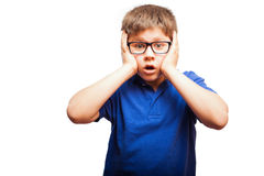Shocked kid with mouth open Royalty Free Stock Photos