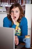 Shocked lady Stock Image