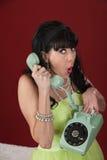 Shocked Lady On Phone Royalty Free Stock Photo