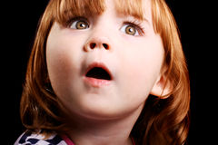 Shocked little girl Stock Images