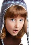 Shocked little girl Stock Photos