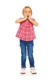 Shocked little girl Royalty Free Stock Photography