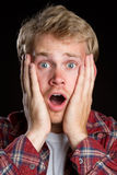 Shocked Man Royalty Free Stock Photography