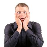 Shocked man Royalty Free Stock Image