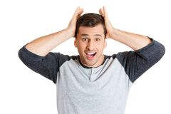 Shocked man Royalty Free Stock Photos