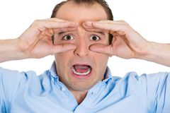 Shocked man Stock Image