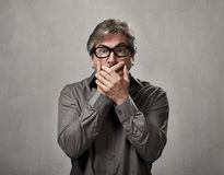 Shocked man face. Royalty Free Stock Images