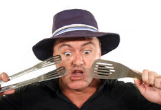 Shocked Man In Hat Royalty Free Stock Images