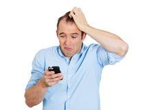 Shocked man losing hair Stock Images