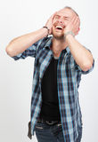Shocked man shouting in despair Royalty Free Stock Photography