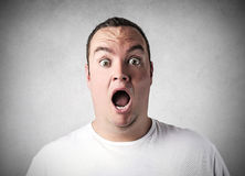 Shocked man Stock Photography
