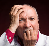 Shocked mature doctor Royalty Free Stock Photo