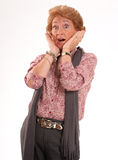 Shocked mature woman Royalty Free Stock Photography
